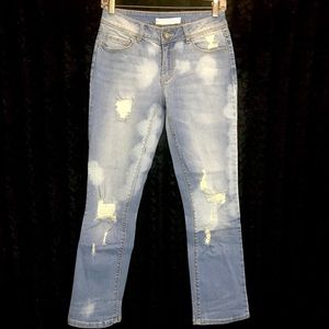 Cato Contemporary 1946 destroyed light denim jeans